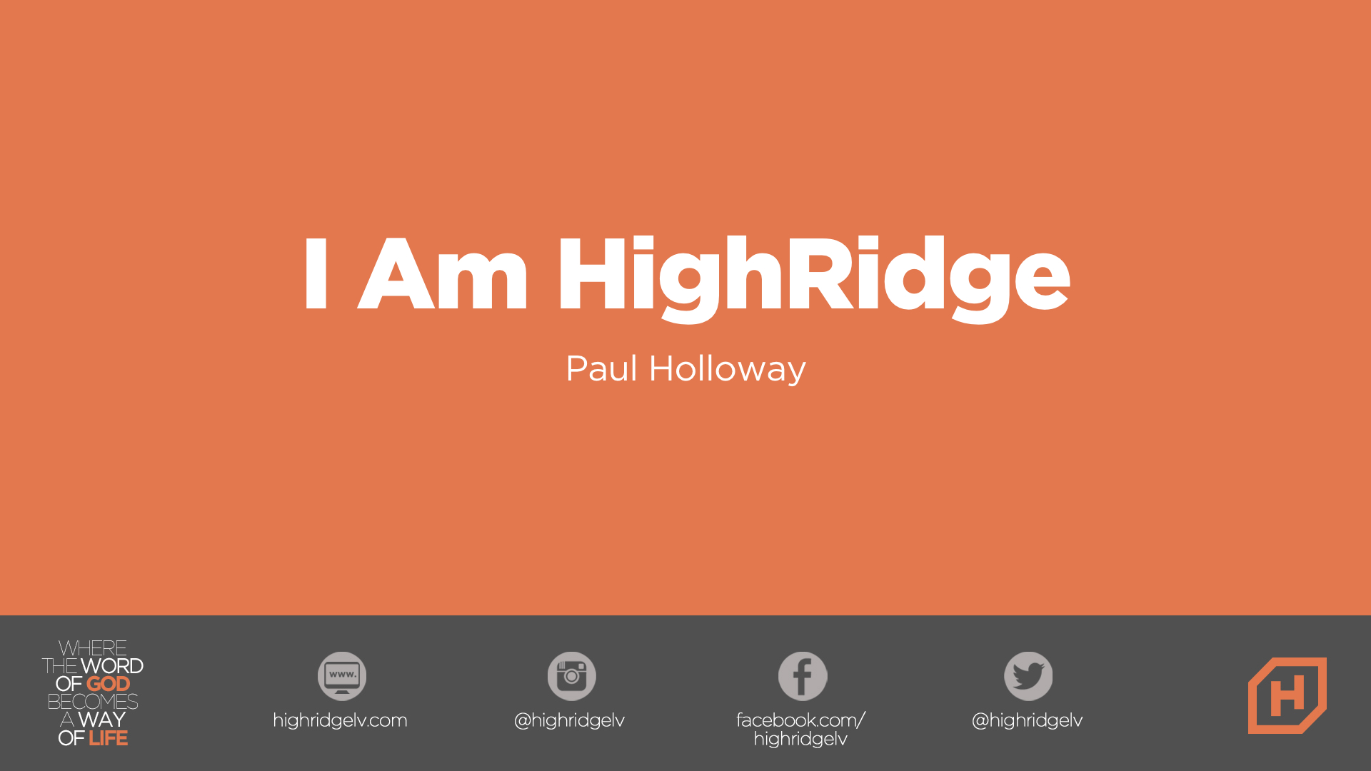 I Am HighRidge