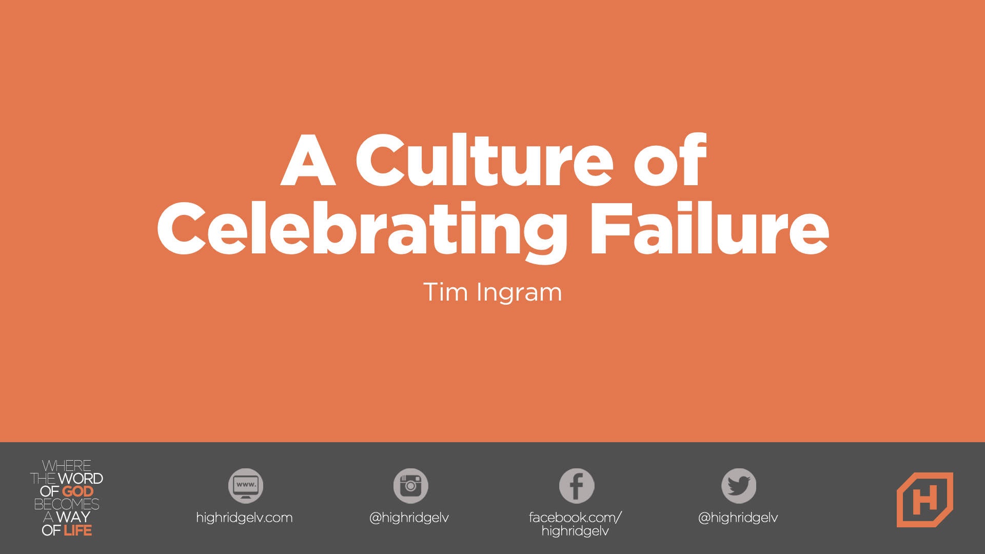A Culture Of Celebrating Failure
