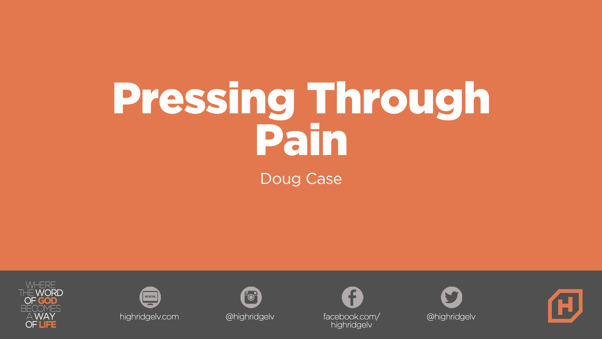 Pressing Through Pain